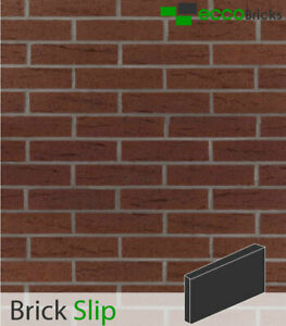 Brick Slips Cladding Decoration Brick Tiles Real Clay-Rustic Brown by Eccobricks