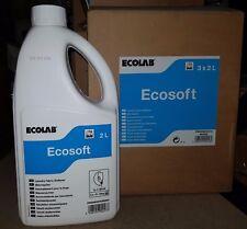Ecolab Ecosoft Laundry Fabric Softener-case of 3 x 2 ltr