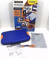 Fiskars Mini ShapeBoss Starter Set Portable Embossing System 5635 Swirl Stencil