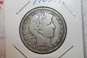 1905-P BARBER Half Dollar, XF++++ condition