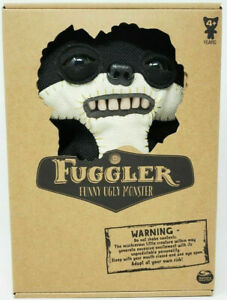 """FUGGLER SUSPICIOUS FOX BLACK BURLAP CHASE GLOW IN THE DARK 9"""" FUNNY UGLY MONSTER"""