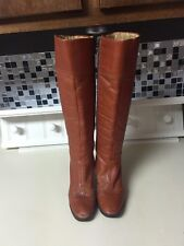 Vintage Petrie Bugi Cognac Brown Spectator Tall Boot Size 6.5 Distressed 60s 70s