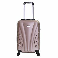 Slimbridge FERRO 55 Cm Hard Cabin Approved Spinner Suitcase Champagne