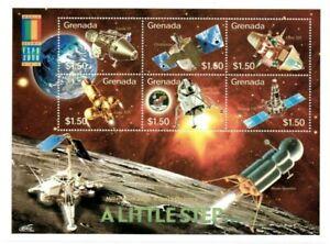 Grenada - 2000 - Space - Sheet Of 6 - MNH