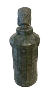 Mayan Jade Vase Mask Vessel Guatemalan Carved King Tikal Hasaw Chaan Kawil God