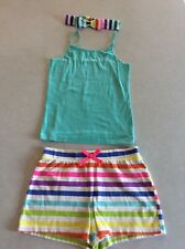 Arizona Cami Top & Children's Place Girls Striped Shorts Headband Size 7/8