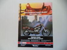 advertising Pubblicità 1988 MOTO YAMAHA XV 535 VIRAGO