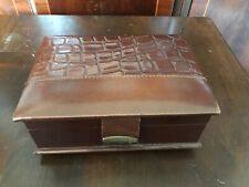 Leather Hand Made Jewellery Box. Spain ST1-7722