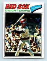1977 O-Pee-Chee Must See Condition ! Dwight Evans . #259
