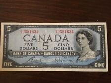 1954 CANADIAN UNCIRCULATED 5 DOLLAR BILL  prefix VX