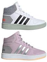 ADIDAS HOOPS MID 2.0 K scarpe donna ragazza sneakers alte pelle zeppa run basket