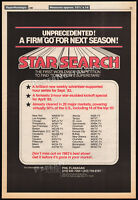 STAR SEARCH__Original 1982 Trade print AD / TV series promo / poster__ED McMAHON