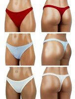 Lot 6 Pack Womens Sexy Thongs Tanga Panties Assorted Colors Underwear T Y Back