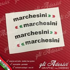Adesivi Cerchi MARCHESINI + Bandierina Ducati Neri
