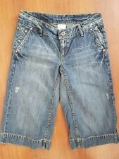 NWT Banana Republic Distressed Crop Jeans size 4 Flap Pockets Stretch MSRP $88