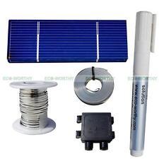 40pcs 78x26mm Solar Cells Kit w/Tab,Bus Wire,Flux Pen&J-box for DIY Solar Panel
