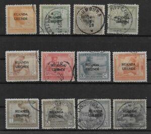 Ruanda-Urundi - 1924 - COB 50/61 - Used -