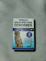 ⭐DeNatural Broad Spectrum Dewormer Medium-large Dogs 22lbs & Up 8 tablets⭐