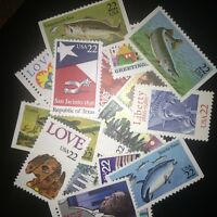 10 MNH  All Different 22 cent stamps