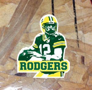 """Aaron Rodgers Green Bay Packers #12 Fan Sticker Decal Bumper Window 4"""""""