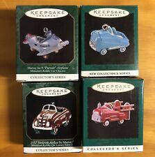 Lot Of 4 Hallmark Miniature Christmas Ornaments- Kiddie Car Classics !