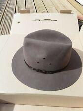 Authentic australian AKUBRA brown felt hat, size 58, NIB Flemington
