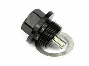 Magnetic Oil Sump Drain Plug for Audi 200 M14x1.5 BLACK Includes washer