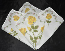 vintage handkerchief ROSE BOUQUET PRINT hanky SHABBY COTTAGE CHIC charming