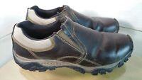 Merrell Kangaroo Mens Slip On Loafers Brown Leather Size 11.5