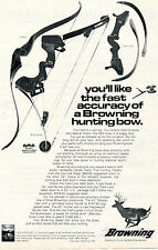 1975 Print Ad of Browning Cobra Bushmaster Compound & Cam-Lock Hunting Bow