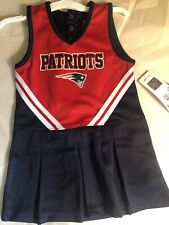 Blue and Red New England Patriots Girls Cheerleader Costume Dress Size 4T