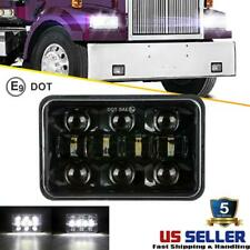 "DOT 4x6""300W LED Headlight DRL Hi-Lo Square Sealed Beam Projector Driving Lamp"