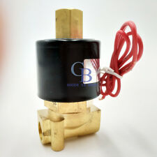 """G1/8"""" N/O 110V AC Brass Electric Solenoid Valve Water Gas Air Normally Open Type"""