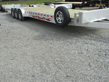 WOLVERINE 34' ALUMINUM CAR HAULER TRAILER 21K GVW * 2 CAR HAULER * MEGA MAY SALE