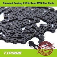 TIPSUM X11SL Diamond Coating DLC 11 Speed Bike Chain Shimano SRAM CAMPAGNOLO KMC