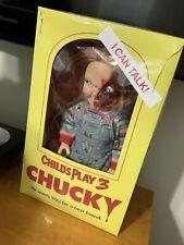 "Mezco Toyz Mega Childs Play 3 Talking Pizza Face Chucky Doll 15"" Figure WC78020"