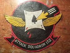 USN US NAVY WWII VA-152 PAINTED LEATHER FLIGHT JACKET SQUADRON PATCH  PAINT