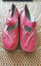 Ladies Real Leather Coolers Premier Summer Sandals Shoes Pink Size 7