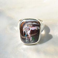 Boulder Opal Ring, 925er Silber, Edelsteinring (21538), Edelsteinschmuck