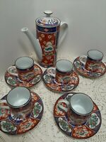Porcelain  Japanese  Imari Tea Set Hand Painting  Oriental