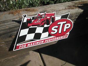 STP MAXIMUM PERFORM RACING  Metal Sign Blue White Red PETTY Racers Vintage Look