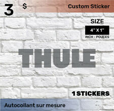 1 by 4  inch Sticker Decal (THULE) 1x black