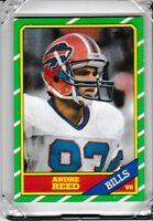 1986 Topps Buffalo Bills Football Card #388 Andre Reed RC Rookie AAO2