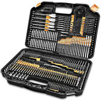 246X Stainless Steel Drill Drive Bit Set Accessory Kit in Bits Case L