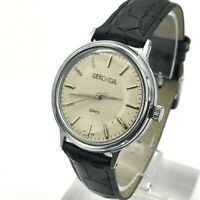 Soviet SEKONDA Classic Poljot Quartz Watch Men's USSR Export Analog TESTED Rare