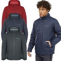 New Mens Padded Jacket Hooded Lined Full Zip Premium Warm Windproof Waterproof