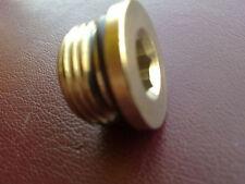 Nickel laiton 1/4 bsp mâle plug Avec Anneau O Air