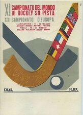 1955 - XI CAMPIONATO DEL MONDO DI HOCKEY SU PISTA- MILANO- DIS. GUAITANI