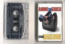 Mc CLAUDIO BAGLIONI Anime in gioco OTTIMO Musicassetta 1 ed 1997 Fabio Fazio