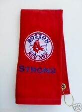 Personalized Embroidered Golf/Bowling Towel Boston Red Sox